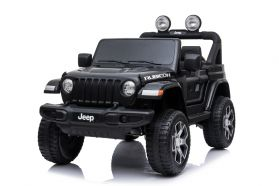 12V Licensed Jeep Rubicon 2 Seater Ride On Car Black