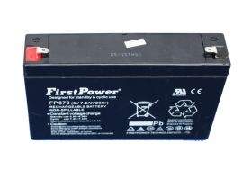 Battery Powered - 6V, 6.7Ah lead acid battery