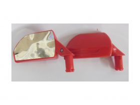 Pair of wing mirrors - red bbh118